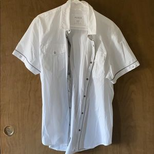 Guess slim fit short sleeve button up